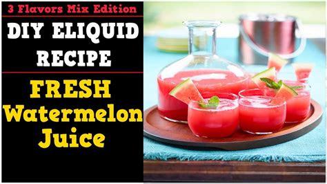 flavors mix  fresh watermelon juice simple full