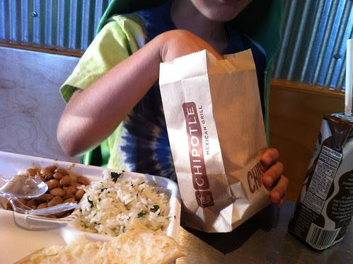 dinner at chipotle {ken out of town}
