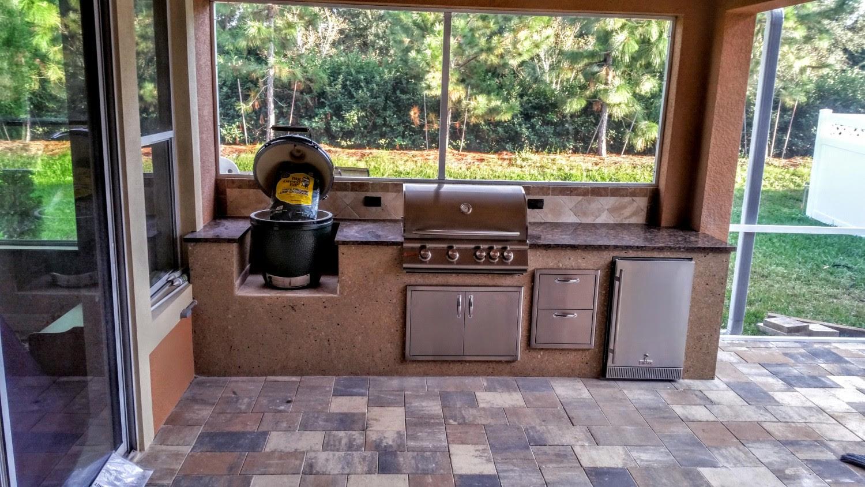 Big Green Egg Outdoor Kitchen Homebase Wallpaper