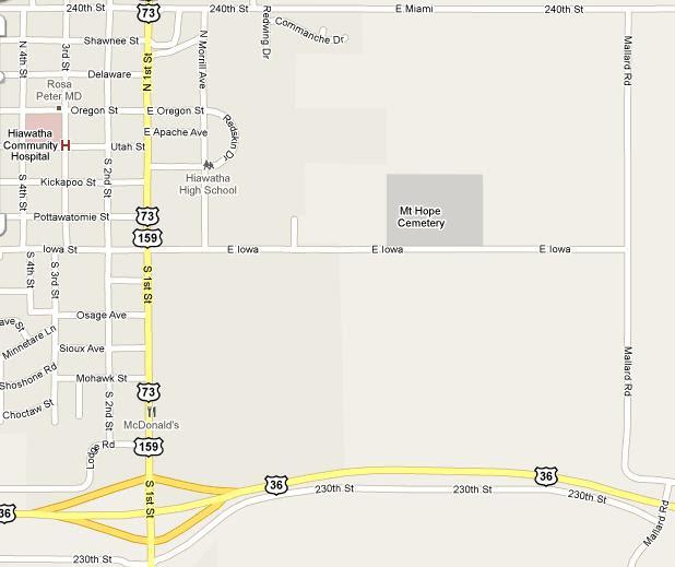 Davis Memorial Map - Mount Hope Cemetery