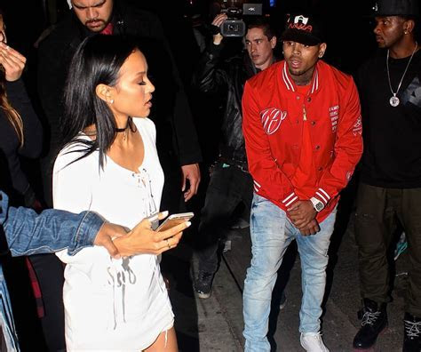 Chris Brown and ex girlfriend Karrueche Tran have fight at