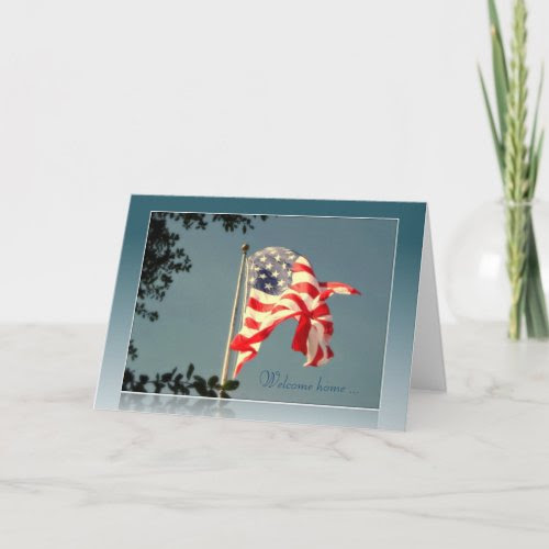Welcome Home! & Thank You - Military Greeting Card card