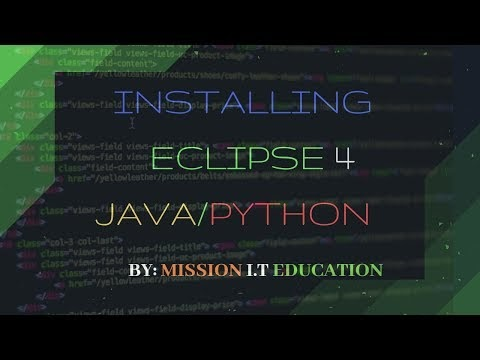 HoW To Install ECLIPSE For JAVA Developers & Python | Mission IT Education | hackin5min