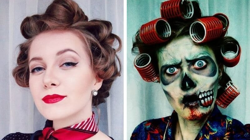 Best white halloween makeup before and after