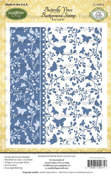Butterfly Vines Cling Background Stamp