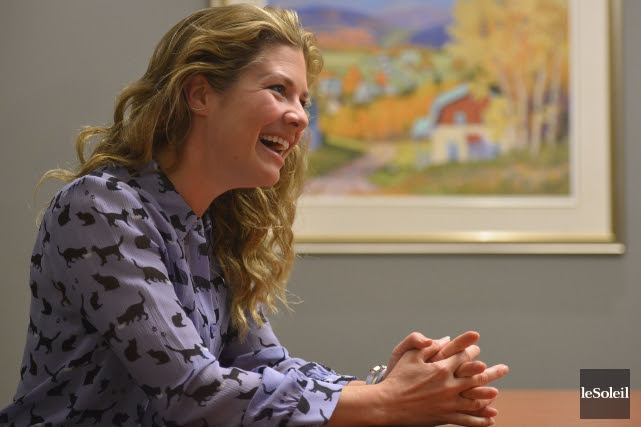 Sophie Grégoire Trudeau, qui s'est impliquée dans plusieurs... (Le Soleil, Yan Doublet)