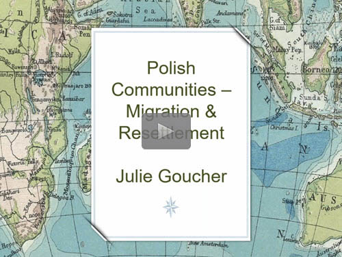 "New ""Member Friday"" Webinar - Polish Communities - Migration and Resettlement by Julie Goucher"