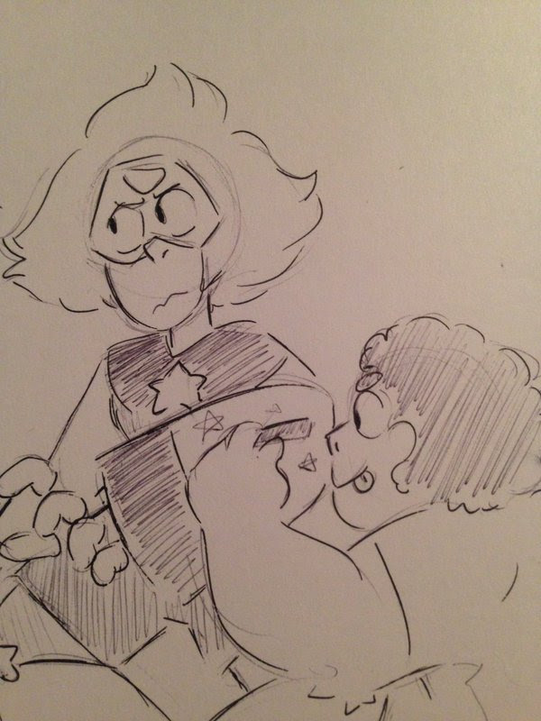theory: when peridot gets her limb enhancers back steven decorates them