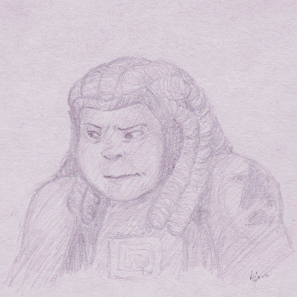 I've been busy with work and not really up to doing anything creative lately, but I wanted to give Bismuth a shot. So, here's an attempt. 3x3″ post-it note doodle.