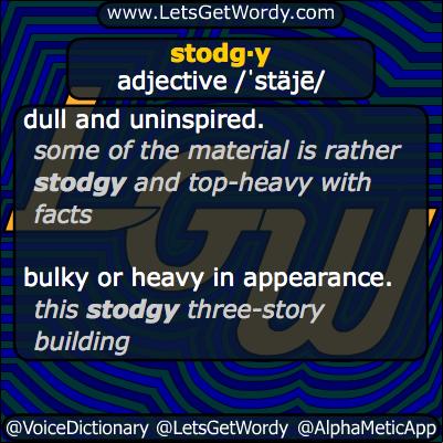Stodgy 12/30/2013 GFX Definition