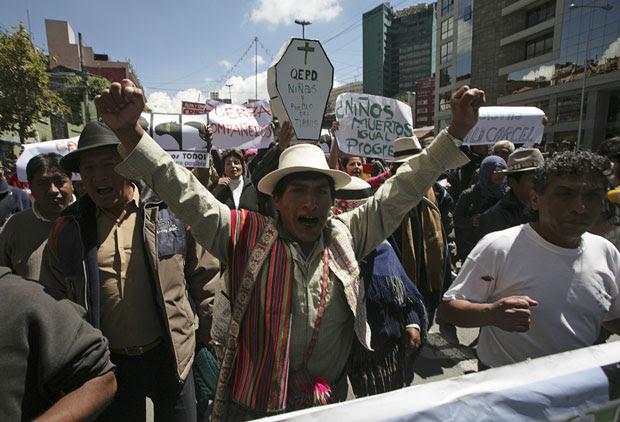 bolivia protesto (Foto: Reuters)
