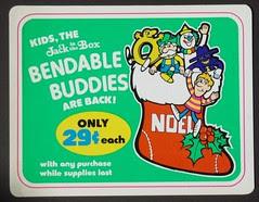 Jack's Bendable Buddies sign