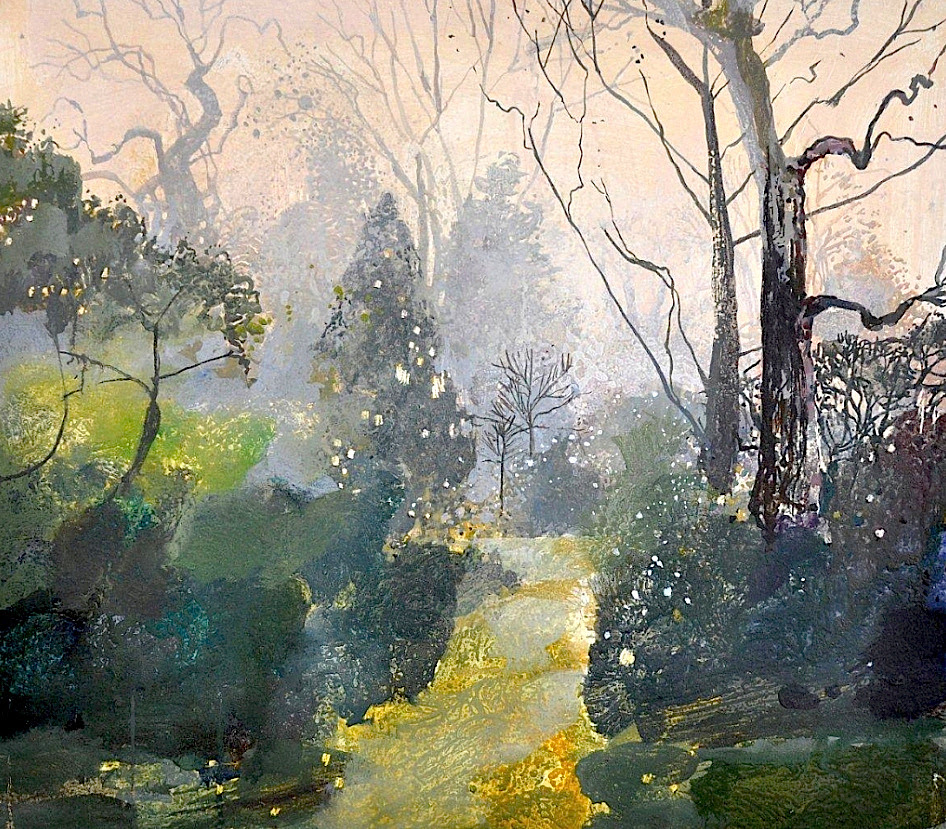 Ruth Stage - 'Early Mist, Regents Park', (egg tempera on board)