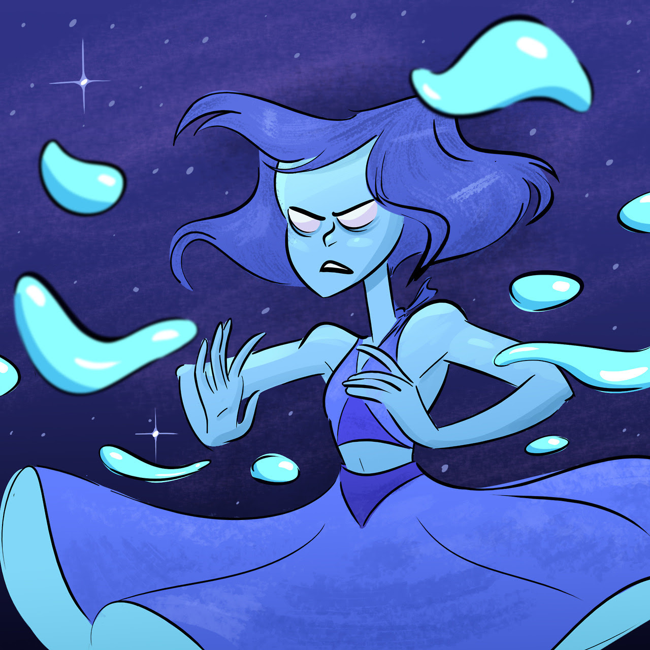 I know I'm a little late to the Steven Universe fanart party, but I couldn't resist drawing Lapis!