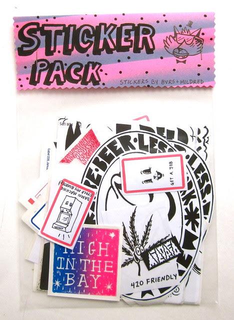 Bvrs Mildred sticker pack