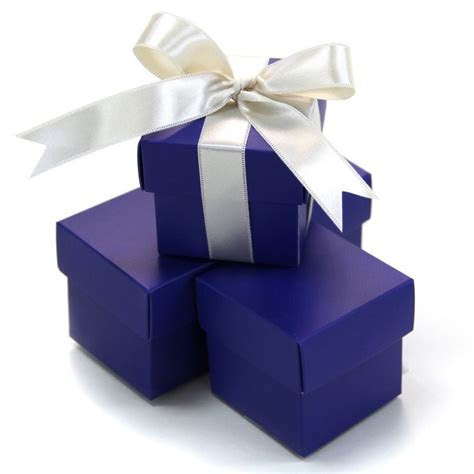 2 PC Favor Boxes 2x2x2   Royal Blue [403514 2 PC Favor Box