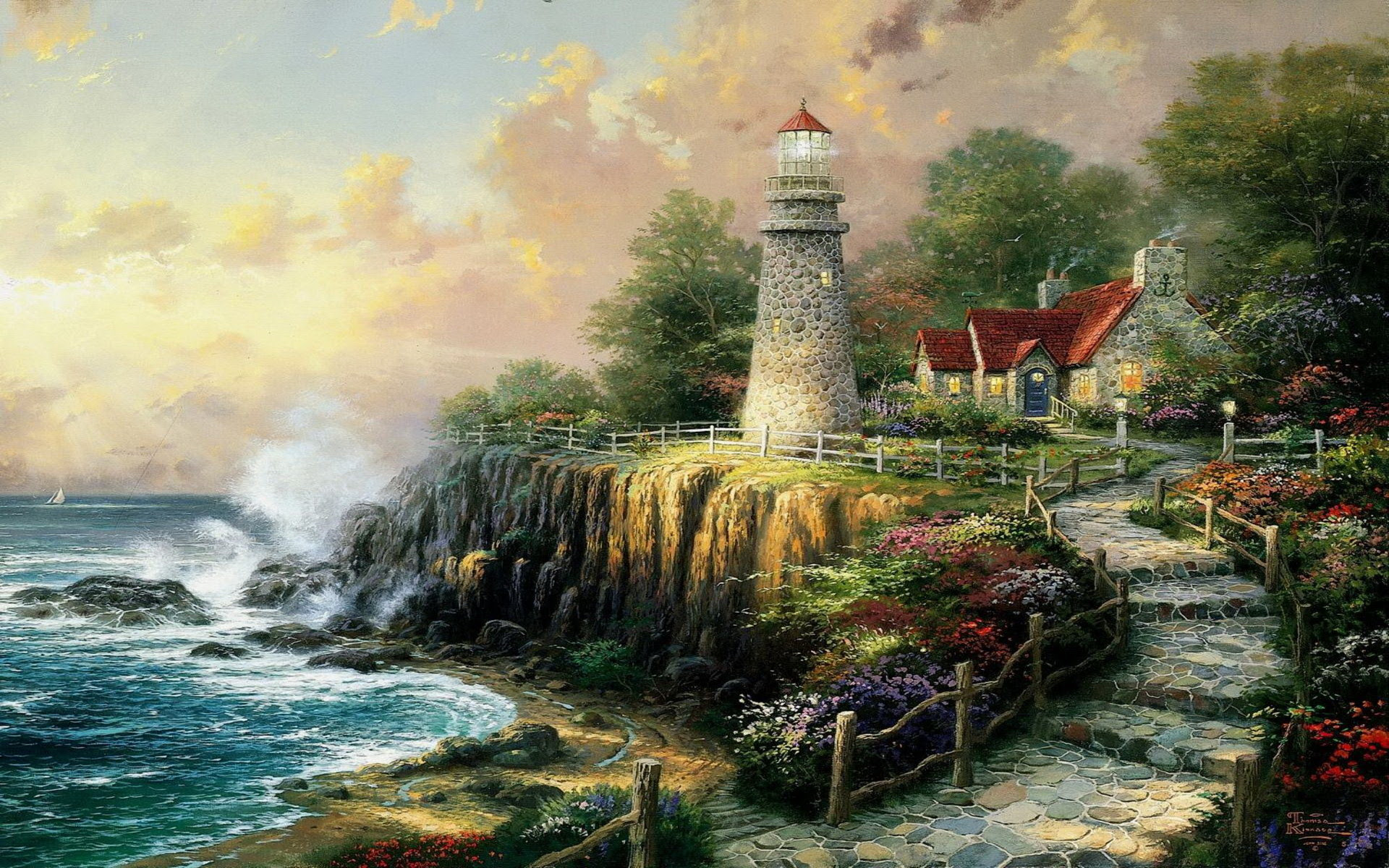 Disney Thomas Kinkade Wallpaper Hd 54 Images