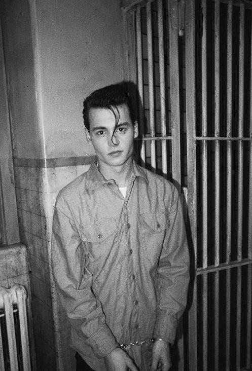 Photography Black And White Young Beutiful Radarplz Johnny Depp Amazing Actor Jail Cry Baby Bad Boy Black Plug
