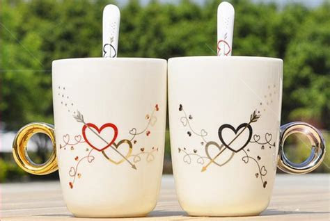 Free shipping couples cup mug of coffee cup wholesale