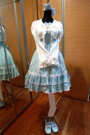 Bodyline Blue Sweet Lolita Outfit by shira.C