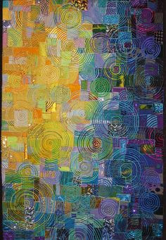 Moonglow  Made by Carol Taylor of New York; winner of first prize in the category Embellished Quilts in the judged show at the 2007 Houston International Quilt Festival.