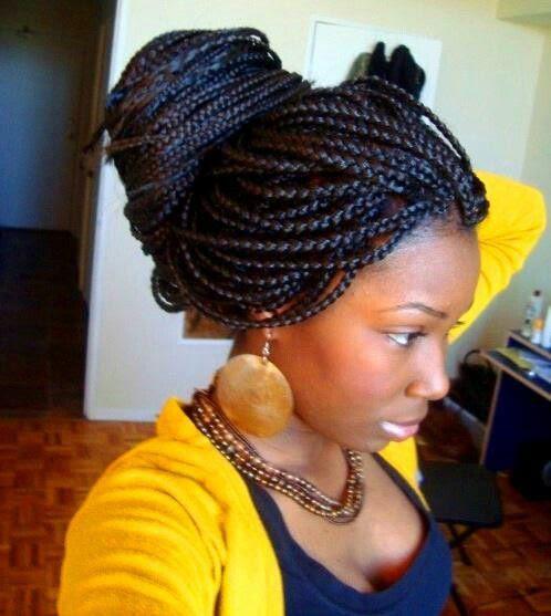 Protective style: box braids