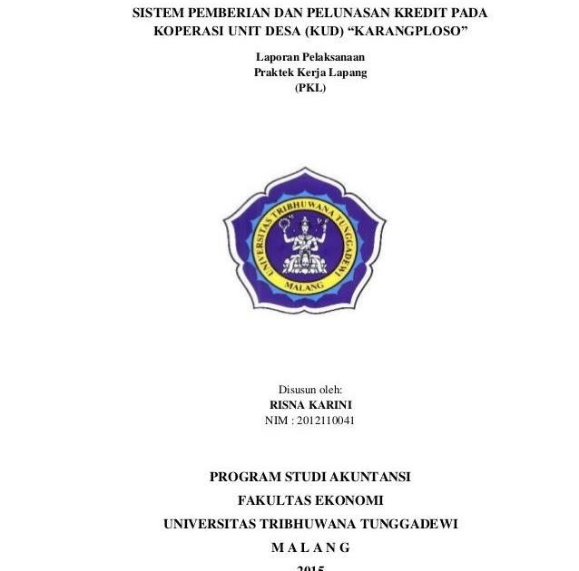 Contoh Laporan Prakerin Jurusan Akuntansi Di Koperasi Unit Desa Kumpulan Contoh Laporan