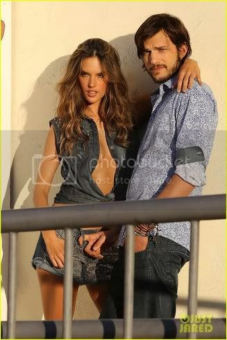 Alessandra Ambrosio and  Ashton Kutcher Colcci Photo Shoot!