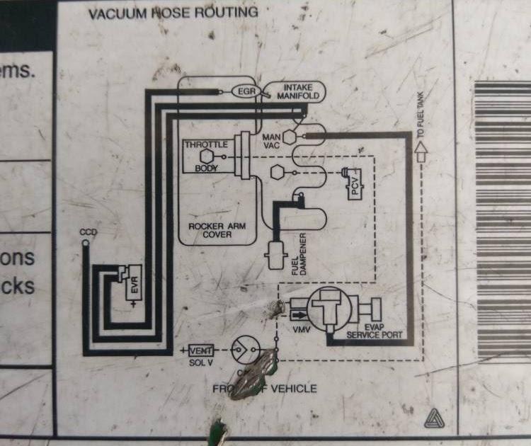 1999 Mazda B2500 Vacuum Diagram