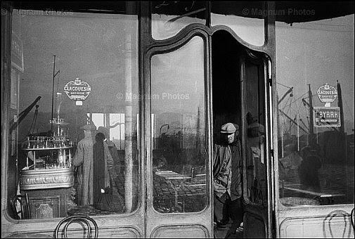 Henri Cartier-Bresson, A Cafe in Vieux-Port Marseille