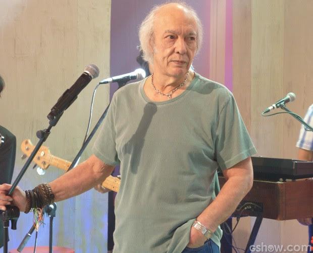 Erasmo Carlos canta no Encontro (Foto: Encontro com Fátima Bernardes/ TV Globo)
