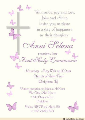 catholic  communion invitation wording stuff  buy