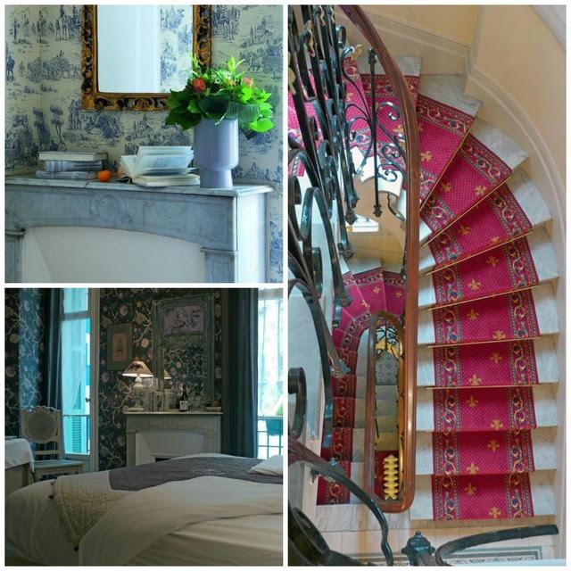Interieur van romantisch Hotel Rivoli in Nice
