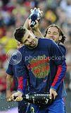 FC Barcelona Pics of Title Celebration