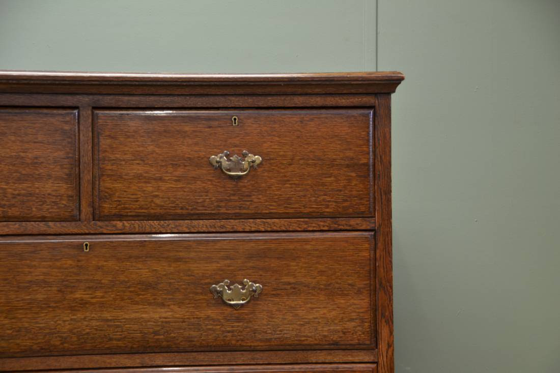Superb Quality Tall Solid Oak Victorian Antique Chest Of ...