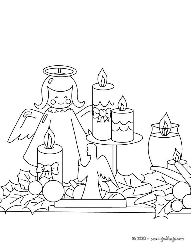 Velas De Navidad Para Colorear 7 Imagenes Navidenas Para Pintar E