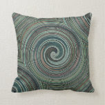 abstract swirls mixed colors original design pillow