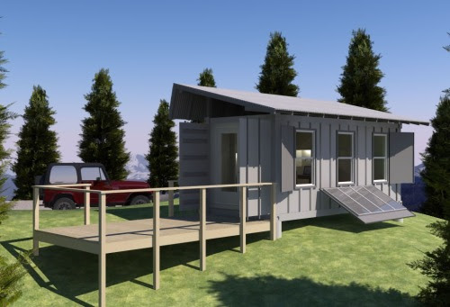 Michael Jansen S Container Cabin Concept Via Tiny House Small Tiny Home Ideas