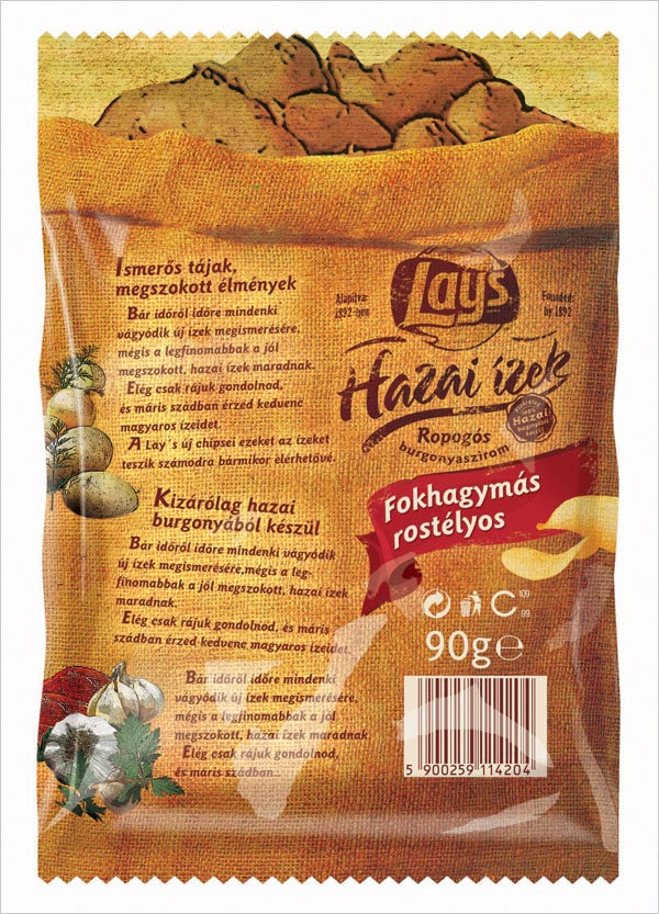 Lays Chips Packaging Design Magyaros 2 30+ Crispy Potato Chips Packaging Design Ideas