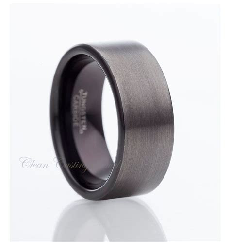 Gun Metal Two Tone Tungsten RingBlack by