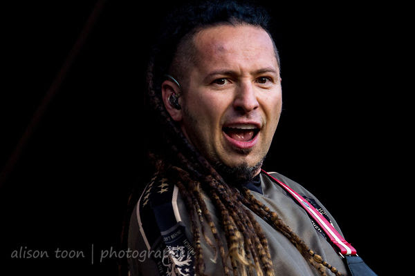 Zoltan Bathory of Five Finger Death Punch, Aftershock 2014