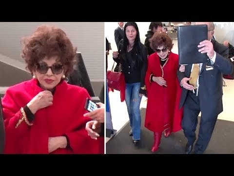 Italian Actress Gina Lollobrigida Stunning At 90, Arriving In L.A. To Be...