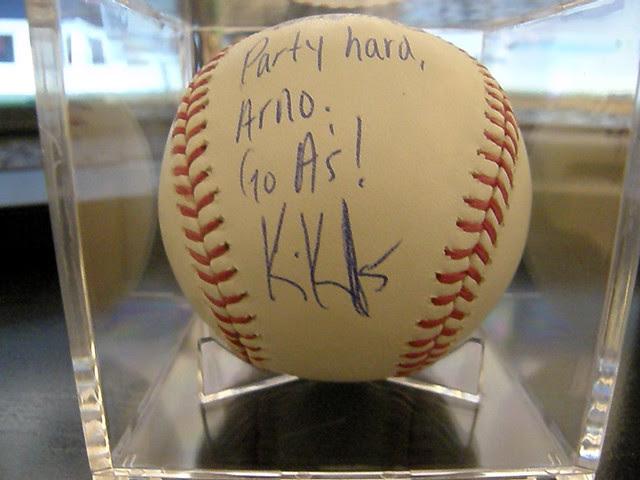 Kevin Kouzmanoff signed baseball