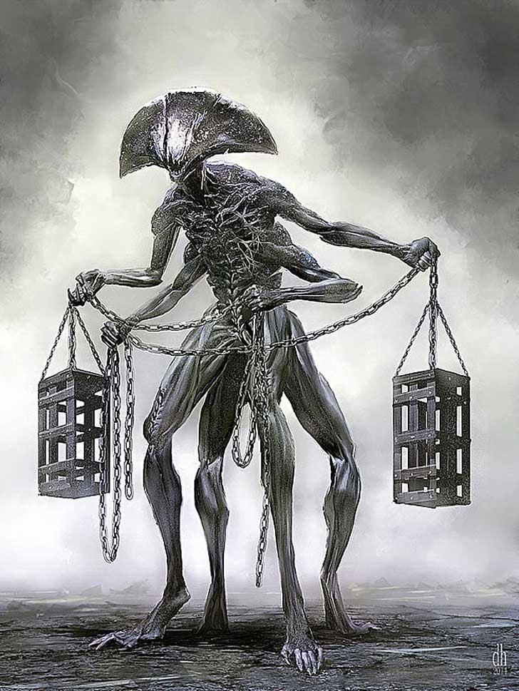 12 Signos Del Zodiaco Renacen Como Aterradores Monstruos Por Damon