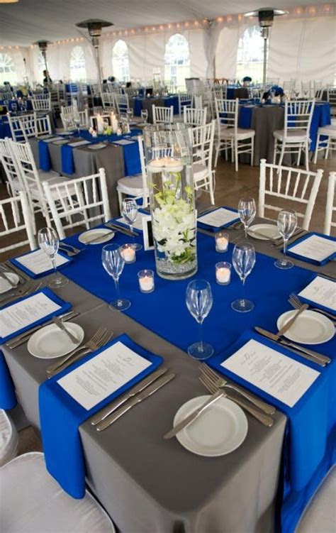 WELL PLACED: Cobalt and pewter colored linens from