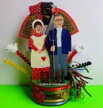 Custom American Gothic Wedding Anniversary Cake Topper by