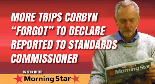 """Morning Star Reveals Corbyn's """"Forgetfulness"""" is Extensive"""