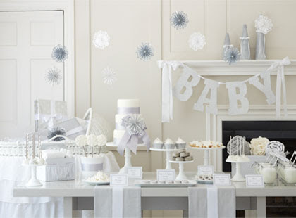 Planning A White Color Themed Baby Shower Time For The Holidays