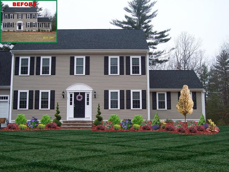 Front Of House Landscaping Ideas Colonial Pdf