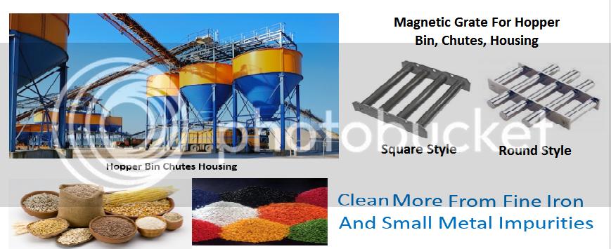 Magnet Hopper bin chutes dan housing